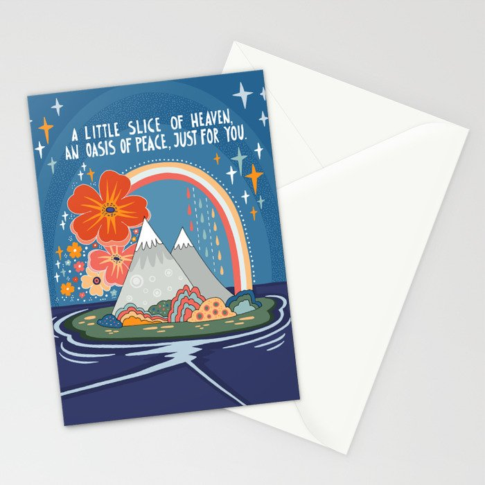 A little slice of heaven Stationery Cards