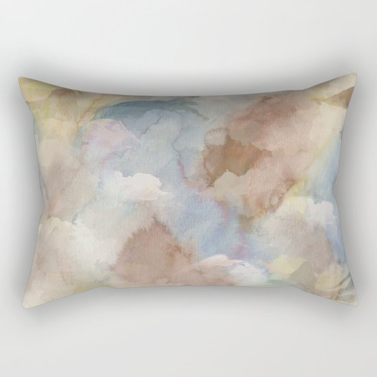 Earth Color Watercolor Abstract Rectangular Pillow