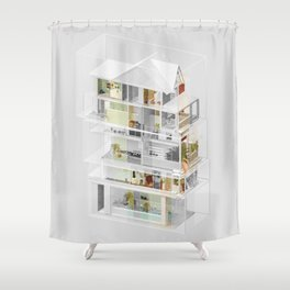 Mumbai/Toronto 1/2 Shower Curtain