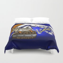 Blazing Bronco Fan Royal Stain Duvet Cover