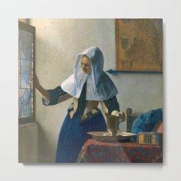 Johannes Vermeer - Woman with a Water Jug Metal Print