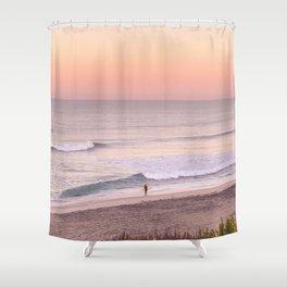 Sunrise Surfer Shower Curtain
