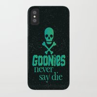 goonies iPhone & iPod Cases featuring Goonies never say die by Rosaura Grant