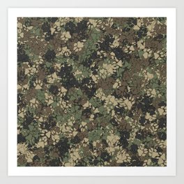 Wolf paw prints camouflage Art Print