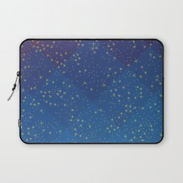 Space Pattern with Pretty Stars Laptop Sleeve