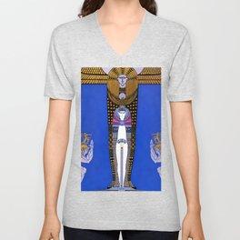 "Art Deco Orientalism ""Cleopatra"" Design Unisex V-Neck"