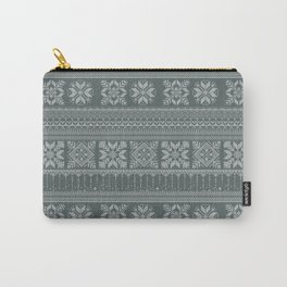 Knitted christmas pattern Carry-All Pouch