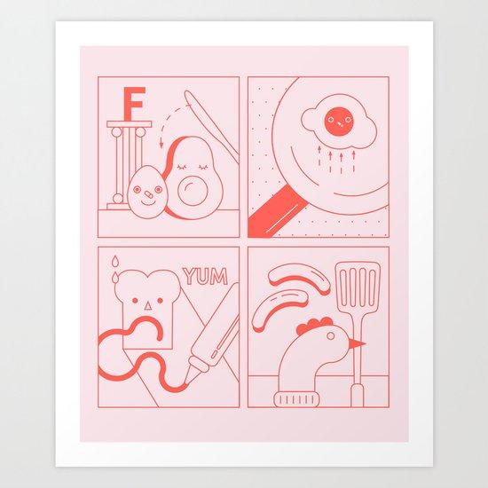 Fun time Breakfast Guide Art Print