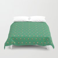 rugby Duvet Covers featuring RUGBY PATTERN by Nic Reich