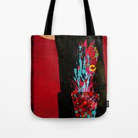 plant Tote Bags featuring plant by frederic levy-hadida