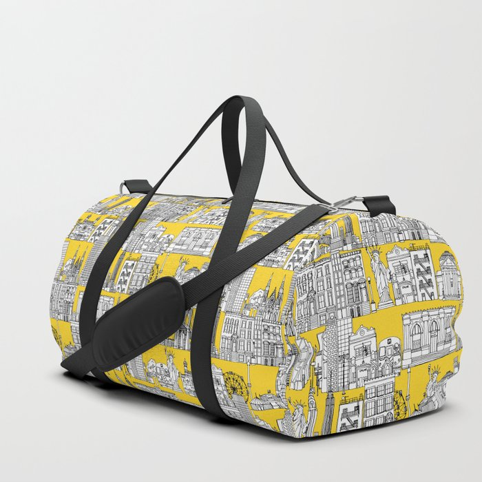 New York yellow Duffle Bag