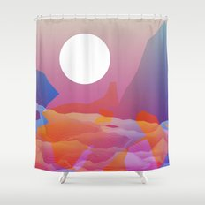 Magic Sunset at D Point Shower Curtain