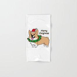 Merry Corgimas Hand & Bath Towel