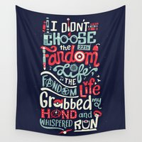 risa rodil Wall Tapestries featuring Fandom Life by Risa Rodil