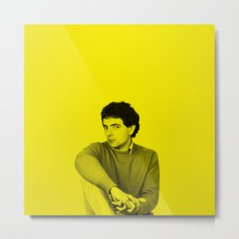 Rowan Atkinson (Mr. Bean) - Celebrity (Florescent Color Technique) Metal Print
