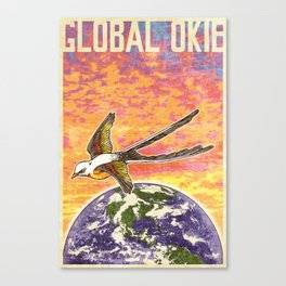 Global Okie 'Flycatcher' Poster Canvas Print