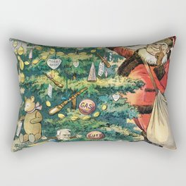 Trimming the Filipinos Christmas Tree (1906) by J Ottman Lithographic Company Rectangular Pillow
