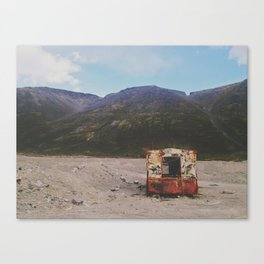Abandoned old trailer  Canvas Print