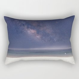 The Milky Way On Bali Beach Rectangular Pillow