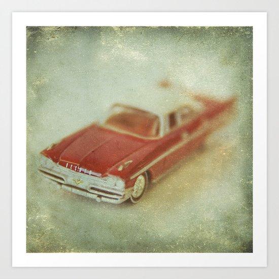 Vintage Red De Soto  Art Print