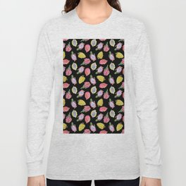 Dragon Fruit Bright Watercolor Long Sleeve T-shirt