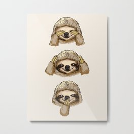 No Evil Sloth Metal Print