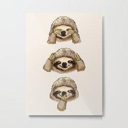 No Evil Sloth Metal Print