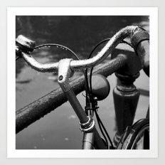 Bike Under The Rain Art Print