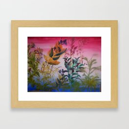 plant sillhoutte Framed Art Print