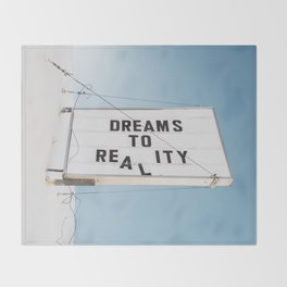 Dreams to Reality Throw Blanket