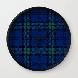 Minimalist Black Watch Tartan Modern Wall Clock