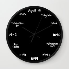 Tax Accountant Clock Wall Clock