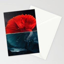 Red Siamese Fighting by GEN Z Stationery Cards