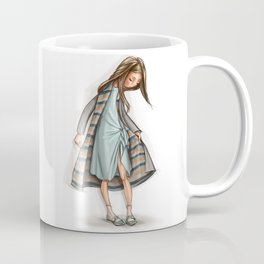 Fashion WhimpsyGirl in tenderly turquoise. Coffee Mug