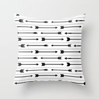 arrows Throw Pillows featuring Arrows by Hipster