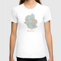 brussels T-shirts featuring Brussels typo map by zldrawings