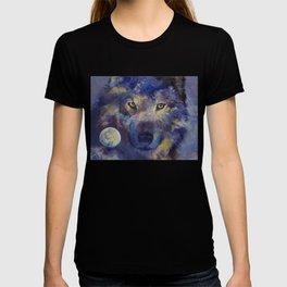 Grey Wolf Moon T-shirt