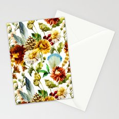 White & Flowers Stationery Cards