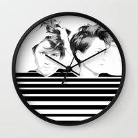 tegan and sara Wall Clocks featuring Tegan & Sara by MeMRB