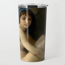 """William-Adolphe Bouguereau """"Seated Nude"""" Travel Mug"""