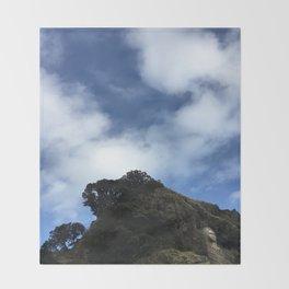 Lion Rock, Piha Beach, Auckland, New Zealand 2 Throw Blanket