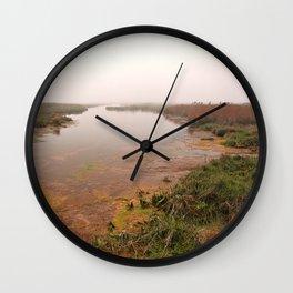 Misty Assateague Island Marsh Wall Clock