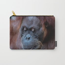 Portrait of a female orangutan Carry-All Pouch
