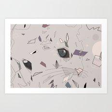 serious cat Art Print