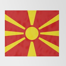 National flag of Macedonia - authentic version Throw Blanket
