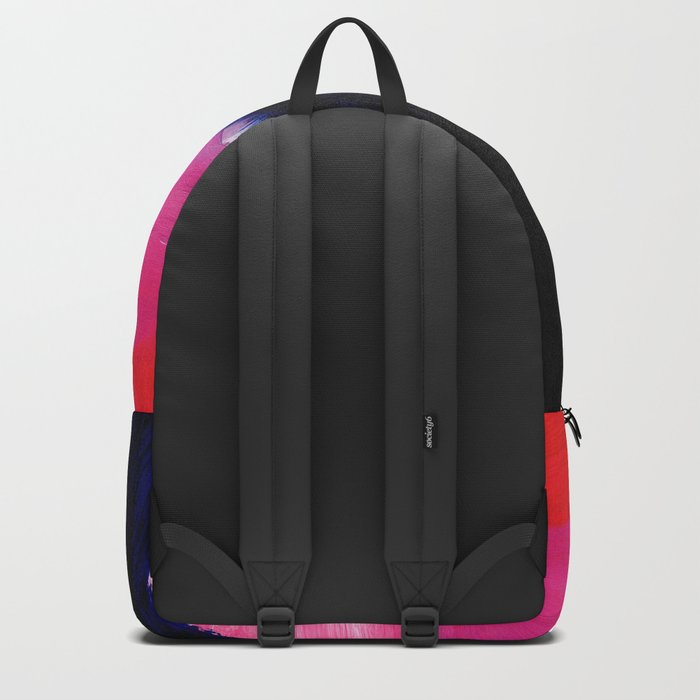 Blue nightfall abstract Backpack