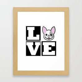 Love Frenchie (French bulldog) Framed Art Print