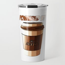 Powered By Coffee Funny Caffeine Beverages Coffee Brewer Beans Gift Travel Mug