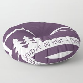 Aiguille du Midi Floor Pillow