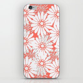 Summer Flowers Living Coral iPhone Skin